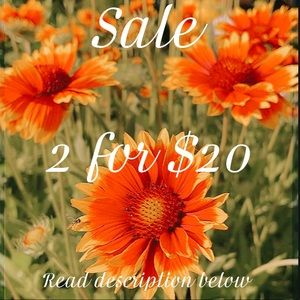 CLOSET SALE! SELECT ITEMS 2 ITEMS FOR $20